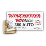 Winchester Winclean 380 ACP Ammunition - 50 Rounds of 95 Grain BEB