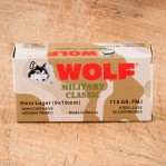 Wolf WPA Military Classic 9mm Luger Ammunition - 500 Rounds of 115 Grain FMJ