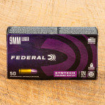 Federal Syntech Training Match 9mm Ammunition - 500 Rounds of 124 Grain Total Synthetic Jacket FN