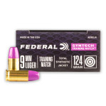 Federal Syntech Training Match 9mm Ammunition - 50 Rounds of 124 Grain Total Synthetic Jacket FN