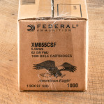Federal American Eagle 5.56 NATO Ammunition - 1000 Rounds of 62 Grain FMJ