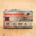 """Winchester Super-X 12 Gauge Ammunition - 250 Rounds of 2-3/4"""" #1 Buck"""