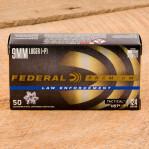 Federal Premium Law Enforcement 9mm Luger Ammunition - 50 Rounds of +P 124 Grain HST JHP