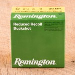 "Remington Law Enforcement Reduced Recoil 12 Gauge Ammunition - 250 Rounds of 2-3/4"" 00 Buckshot"