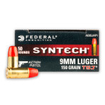 Federal American Eagle Syntech Action Pistol 9mm Ammunition - 500 Rounds of 150 Grain TSJ