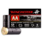 """12 Gauge - 2-3/4"""" #8 Shot - Winchester AA Sporting Clays - 250 Rounds"""