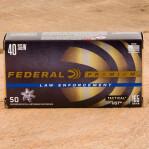 Federal Premium Law Enforcement 40 S&W Ammunition - 50 Rounds 165 Grain HST HP