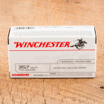 Winchester USA 357 Magnum Ammunition - 50 Rounds of 110 Grain JHP
