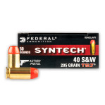 Federal Syntech Action Pistol 40 S&W Ammunition - 500 Rounds of 205 Grain Total Synthetic Jacket
