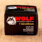 Wolf 7.62x39 Ammunition - 1000 Rounds of 123 Grain FMJ