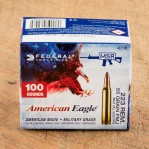 Federal American Eagle 223 Remington Ammunition - 100 Rounds of 55 Grain FMJ
