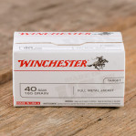 Winchester 40 S&W Ammunition - 500 Rounds of 165 Grain FMJ