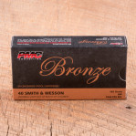 PMC Bronze 40 S&W Ammunition - 50 Rounds of 165 Grain JHP