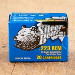 Silver Bear 223 Remington Ammunition - 500 Rounds of 55 Grain FMJ
