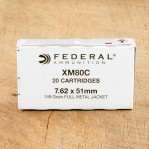 Federal 7.62 NATO Ammunition - 500 Rounds of 149 Grain FMJ