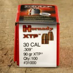 ".309"" Hornady 30 Carbine Bullets - 100 Qty - 90 Grain XTP Jacketed Hollow Point"