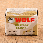 Wolf WPA Military Classic 223 Remington Ammunition - 20 Rounds of 62 Grain HP