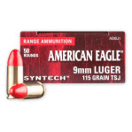 9mm - 115 Grain Total Synthetic Jacket (TSJ) - Federal Syntech - 500 Rounds