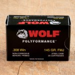 Wolf WPA Polyformance 308 Winchester Ammunition - 500 Rounds of 145 Grain FMJ