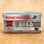 Winchester WinClean 40 S&W Ammunition - 50 Rounds of 180 Grain BEB - Law Enforcement Trade-In