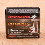 Winchester PDX1 Defender 9mm Luger Ammunition - 20 Rounds of 147 Grain Bonded JHP
