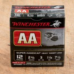 "Winchester AA 12 Gauge Ammunition - 25 Rounds of 2-3/4"" 1-1/8 oz. #7.5 Shot"