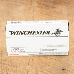 Winchester Bonded 40 S&W Ammunition -  500 Rounds of 180 Grain JHP