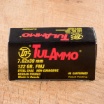 Tula 7.62x39mm Ammunition - 1000 Rounds of 122 Grain FMJ