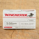 Winchester Target 5.56 NATO Ammunition - 20 Rounds of 55 Grain FMJ
