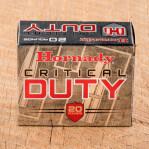 Hornady Critical Duty 40 S&W Ammunition - 200 Rounds of 175 Grain FlexLock JHP