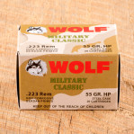 Wolf WPA Military Classic 223 Remington Ammunition - 20 Rounds of 55 Grain HP