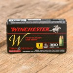 Winchester Train & Defend 380 ACP Ammunition - 50 Rounds of 95 Grain FMJ