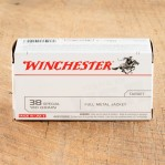 Winchester Target 38 Special Ammunition - 500 Rounds of 130 Grain FMJ