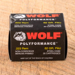 Wolf WPA Polyformance 223 Remington Ammunition - 20 Rounds 62 Grain FMJ