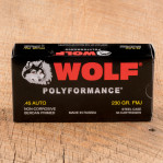 Wolf WPA Polyformance 45 ACP Ammunition - 50 Rounds of 230 Grain FMJ