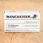 Winchester Target & Range 5.56 NATO Ammunition - 20 Rounds of 50 Grain Jacketed Frangible