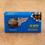 Silver Bear 45 ACP Ammunition - 500 Rounds of 230 Grain FMJ