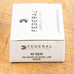 Federal Classic 40 S&W Ammunition - 50 Rounds of 180 Grain Hi-Shok JHP