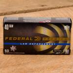 Federal Premium Law Enforcement 40 S&W Ammunition - 50 Rounds of 180 Grain HST JHP