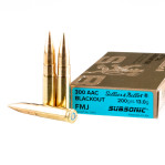 Sellier & Bellot Subsonic 300 AAC Blackout Ammunition - 20 Rounds of 200 Grain FMJ