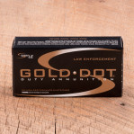 Speer LE Gold Dot 9mm Luger Ammunition - 1000 Rounds of +P 124 Grain HP