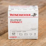 "Winchester Super Target 12 Gauge Ammunition - 250 Rounds of 2-3/4"" 1-1/8 oz #8 Shot"