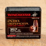 Winchester Elite PDX1 Defender 357 Sig Ammunition - 20 Rounds of 125 Grain Bonded JHP