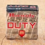 Hornady Critical Duty 9mm Luger Ammunition - 25 Rounds of 135 Grain Flex Lock JHP