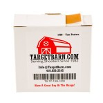 "Tan Target Pasters - 40000 Count - 7/8"" Boxed Square Adhesive Pasters"