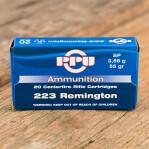 Prvi Partizan 223 Remington Ammunition - 20 Rounds of 55 Grain SP