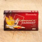 Hornady Superformance Varmint 223 Remington Ammunition - 20 Rounds of 53 Grain V-Max