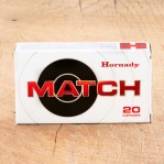 Hornady Match 308 Winchester Ammunition - 20 Rounds of 168 Grain HPBT
