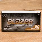 Blazer Brass 9mm Luger Ammunition - 1000 Rounds of 115 Grain FMJ