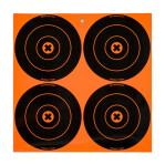 "Birchwood Casey Big Burst Adhesive Targets - 12 Reactive Targets - 6"" Bullseyes"
